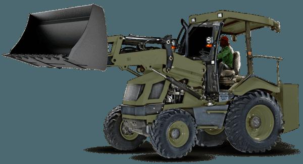 restroexcavadora sin cabina defensa